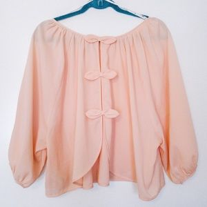 Peach bow top | Forever 21